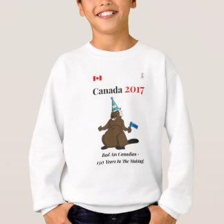 Biber-Party-Schlechtes Kanadas 150 im Jahre 2017 Sweatshirt