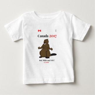 Biber-Rot Kanadas 150 im Jahre 2017 Baby T-shirt
