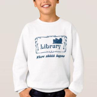 Bibliothek, in der Shhhh geschieht Sweatshirt