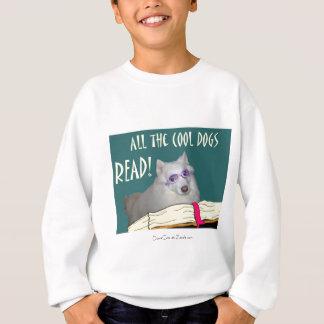 Bibliothek - Samoyed - coole Hunde las Bildung Sweatshirt