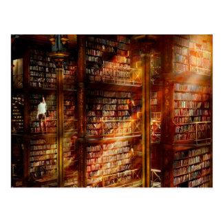 Bibliothek - sie beginnt mit einer Singleseite Postkarte