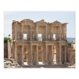 Bibliothek von Celsus in Ephesus, die Türkei Fotodruck