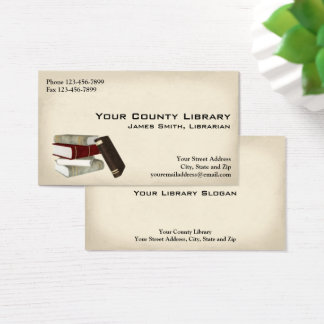 Bibliothekar-Bibliotheks-Visitenkarte Visitenkarte