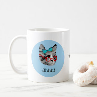 Bibliothekar-Katze Kaffeetasse