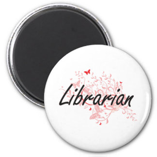 Bibliothekar-künstlerischer Job-Entwurf mit Runder Magnet 5,1 Cm