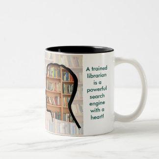 Bibliothekar-Tasse Zweifarbige Tasse