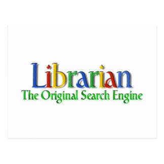 Bibliothekar-Vorlagen-Suchmaschine Postkarte