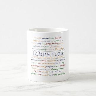 Bibliotheken Kaffeetasse