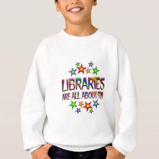 Bibliotheken über Spaß Sweatshirt