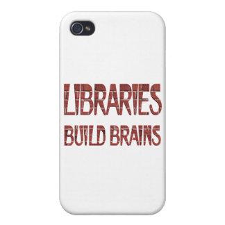 Bibliotheks-Gestalt-Gehirne iPhone 4/4S Cover