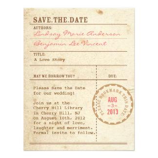 Bibliotheks-Karte Save the Date Einladungskarte
