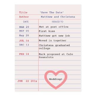 Bibliotheks-Karten-Save the Date Postkarte