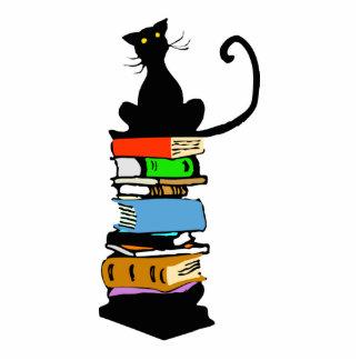 Bibliotheks-Katze Freistehende Fotoskulptur