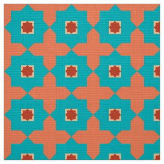 Bibliotheks-Raum-Marokkaner-Fliesen Stoff