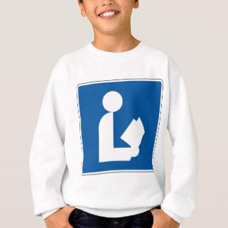 Bibliotheks-Straßenschild Sweatshirt