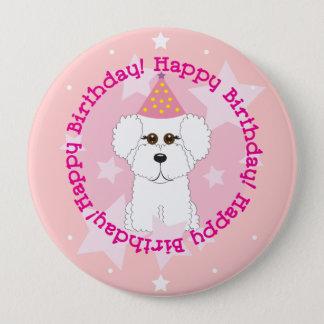 Bichon Frise alles- Gute zum Geburtstagknopf Runder Button 10,2 Cm