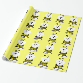 Bichon Frise Hummel-Bienen-Verpackungs-Papier Geschenkpapier