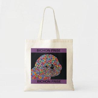 Bichon Frise Hund - abstrakte Kunst-Taschen-Tasche Tragetasche