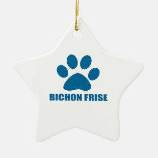 BICHON FRISE HUNDEentwürfe Keramik Ornament