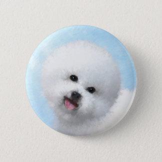 Bichon Frise Malerei - niedliche ursprüngliche Runder Button 5,1 Cm
