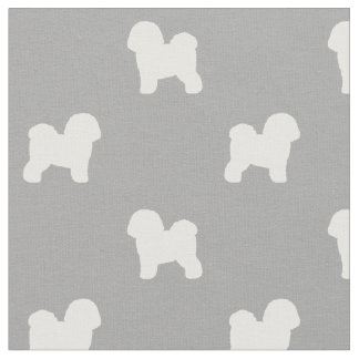 Bichon Frise Silhouette-Muster Stoff