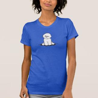 Bichon Frise sitzen hübsches T-Shirt