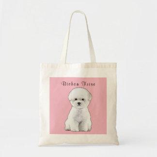 Bichon Frise Welpen-illustrierte Taschen-Tasche Tragetasche