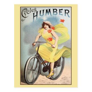 Bicyles Zyklen Ca 1890 Vintage Anzeige Humber Postkarte
