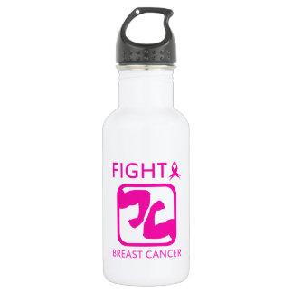 Biegen der Arme, um Brustkrebs zu kämpfen Trinkflasche