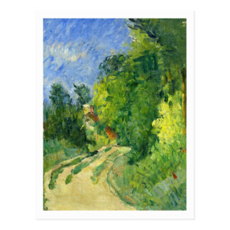 Biegung in der Straße durch Paul Cezanne Postkarte