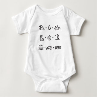 Biegungs-Oregon-Tätigkeits-Gleichung Baby Strampler