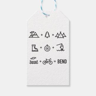 Biegungs-Oregon-Tätigkeits-Gleichungs-Logo Geschenkanhänger