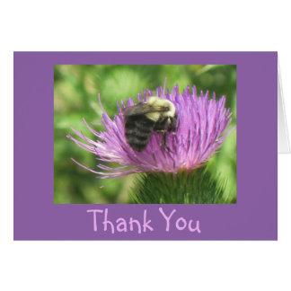 Biene auf Distel-danke Karte
