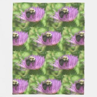 Biene auf Distel-Fleece-Decke Fleecedecke