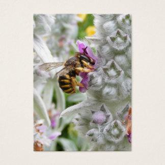 Biene auf Lamm-Ohr ~ ATC-Karte Visitenkarte