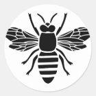 biene bee wasp bumble wespe hummel runder aufkleber