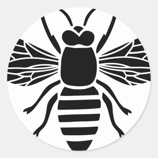 biene bee wasp wespe hummel insect fly honey runder aufkleber