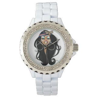 BIENE bescheidenes Uhr-Weiß Uhr