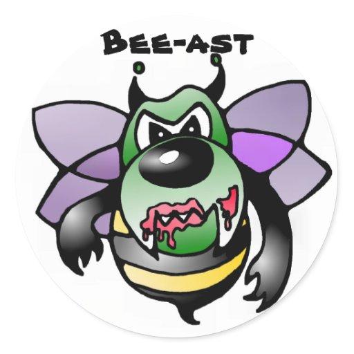 biene bienen bee bees sticker aufkleber beast zazzle. Black Bedroom Furniture Sets. Home Design Ideas