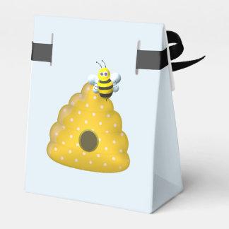 Biene cool mit Bienen-Bienenstock Geschenkschachtel