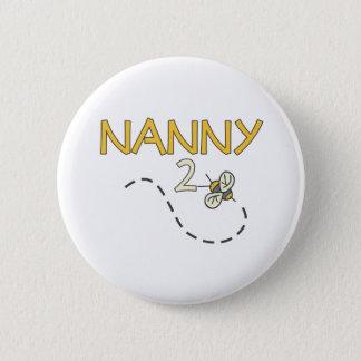 Biene des Kindermädchen-2 Runder Button 5,7 Cm