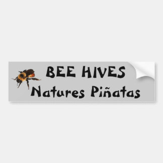 Biene fängt Naturen Piñatas Glückskeks ein Autoaufkleber
