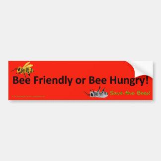 Biene freundlich oder Bienen-hungriger Autoaufkleber