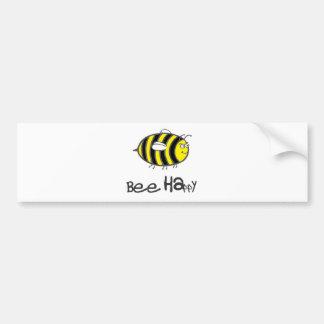 Biene glücklich autoaufkleber