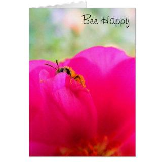 Biene glücklich karte