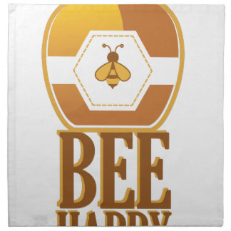 Biene glücklich serviette