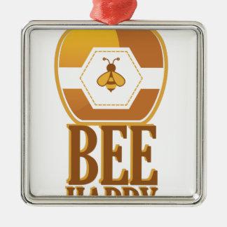 Biene glücklich silbernes ornament