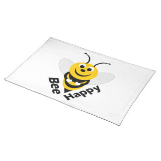 Biene glücklich tischset