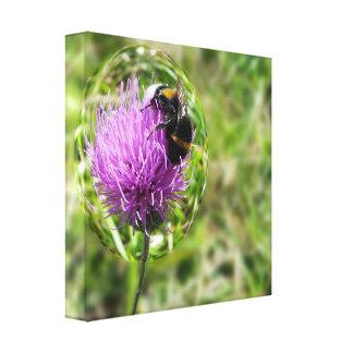 Biene in der Blase Leinwanddruck