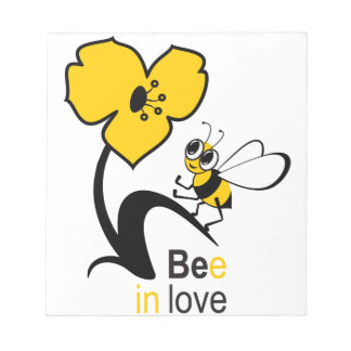 Biene in love2.ai notizblock
